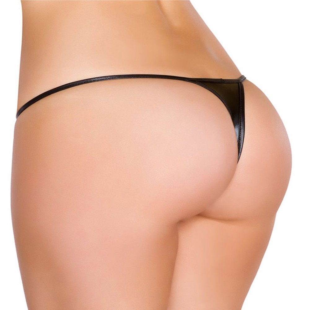 75a0ce4d32a IWEMEK Women's Brazilian Teeny Micro Thong Low-Waist Sexy G-Strings V  String Bottom T Back Shorts Panty Underwear at Amazon Women's Clothing  store:
