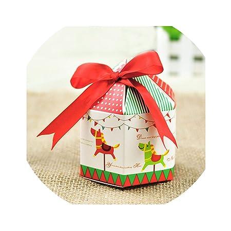 10 cajas de regalo de Navidad con lazo y caja de regalo de ...