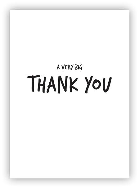 Minimalista tarjeta de agradecimiento con sobre blanco - A6 ...