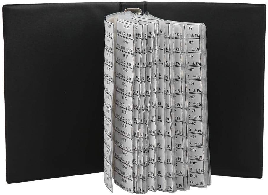 Schwarzer Kunststoff 0603 Serie 170 Typen Widerst/ände Sortiertes Kit f/ür Elektronische Profis Oder Enthusiasten Kapazit/ätsmusterbuch Elektronische Komponenten Musterbuch