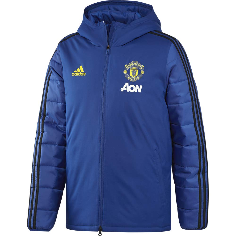 2019-2020 Man Utd Adidas Winter Training Jacket (青) 青 Small 36-38\