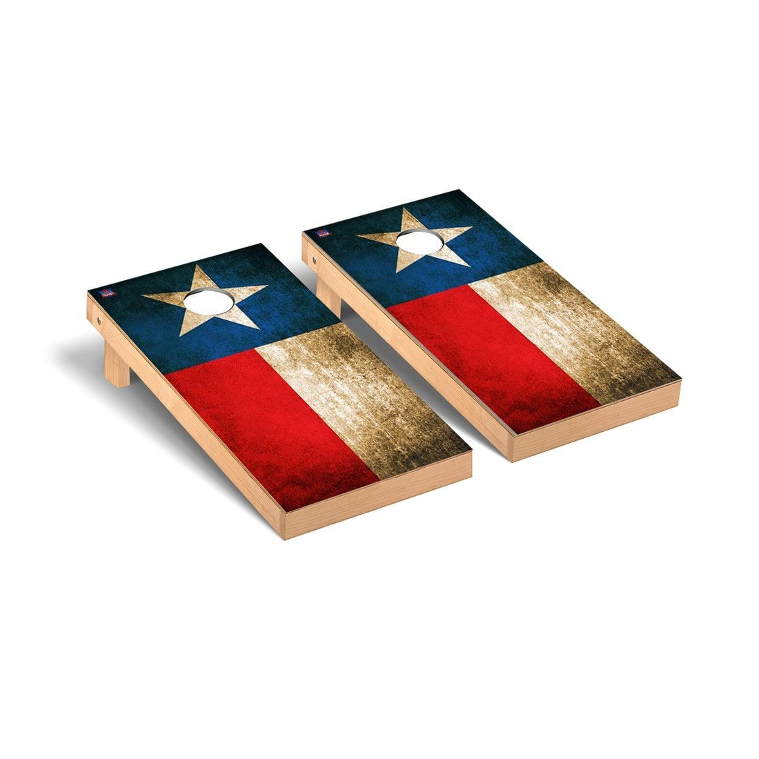 Texas Flag Vintage Cornhole Game Set by Victory Tailgate