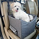 Cheap Petsfit Dog Car Seat for Small Dogs and Cats up to 15 Pounds, Small Dog Car Seat, with Pockets (Gray) 15″ Lx16 Wx14 H Small