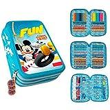 Disney Junior Mickey Mouse Club House Trousse Trousse rempli avec 3compartiments