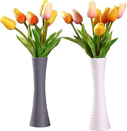 ComSaf Bud Vases Vasi Pancromatico Ceramica Matte Set di 2 Vaso di Fiori Vasi Decorativi Moderni Collection per Ricorrenze Decorazioni per Interni Ristorante Bar Cafe Porcellana
