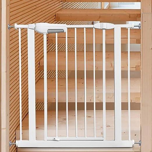 Puerta de Seguridad para bebés, Puerta de Metal Blanco para Mascotas, escaleras Cocina Baño Balcón Extensiones Cerca de protección, Alto 76 cm (Tamaño : 67-74cm): Amazon.es: Hogar