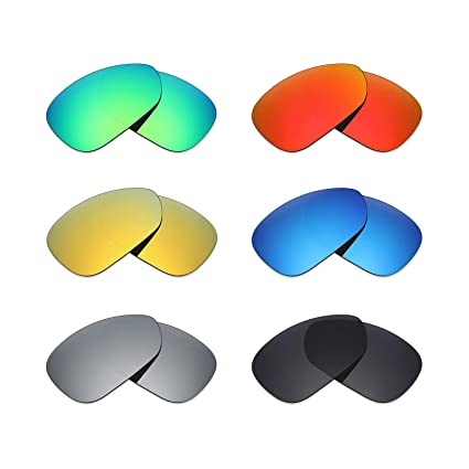 7b6b8f814e7 Mryok 6 Pair Polarized Replacement Lenses for Oakley Crosshair 1.0(2005)  Sunglass - Stealth