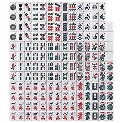 Brand New American Mahjong Set in Burgundy Bag, 4 Pushers Racks Western Mahjongg: Toys & Games