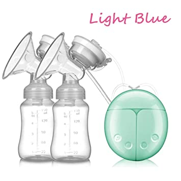 USB Double Intelligent Electric Breast Nipple Suction Automatic Breast Pumps Breastpump Kit Baby Feeding (Green