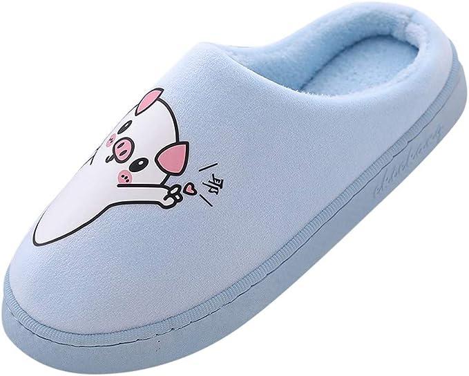 Xinantime Zapatillas de Estar por Casa, Zapatillas de Casa Confort Zapatos de Invierno Cerdo de Moda para Mujer Piso Lindo Cálido Inicio Zapatillas de Peluche de la Novedad Pantuflas: Amazon.es: Ropa y