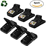 UMISKY Rat Traps that Work, The Best Rat Catcher Effective No Poison Rodent Killer Spring Mouse Trap Pest Control for Big Gophers, Voles, Mice, and Rats - 6 pack