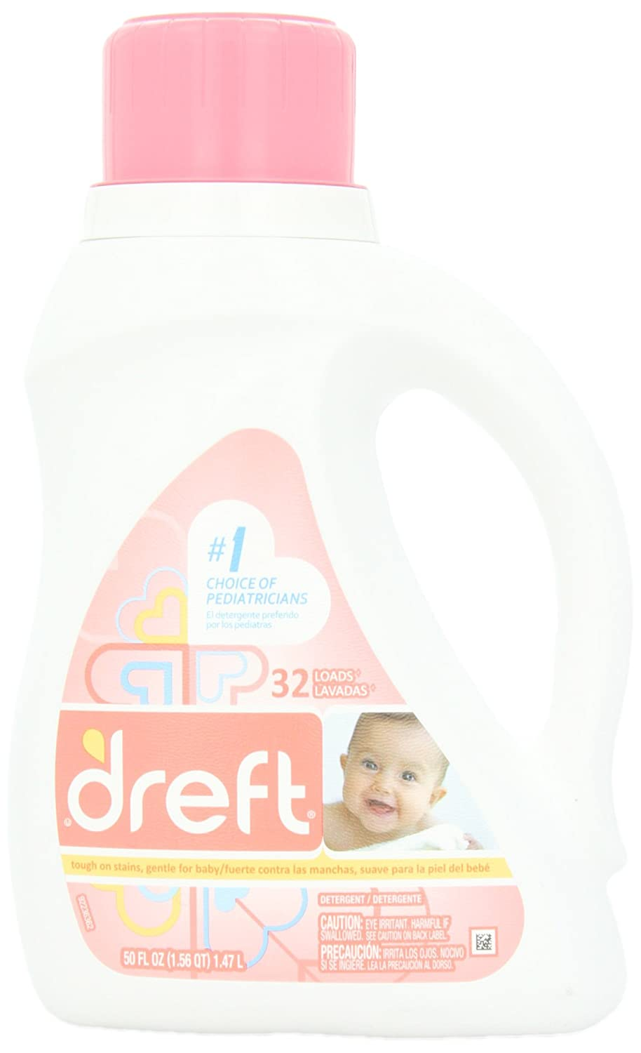 Dreft Baby Liquid Laundry Detergent 32 Loads 50 Fl Oz 12873
