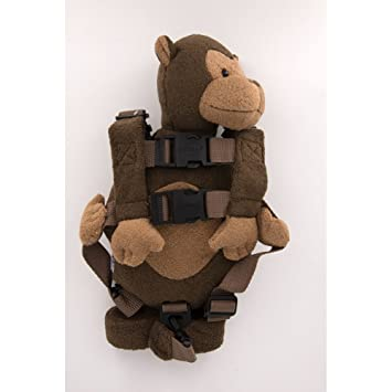 Berhapy 2 in 1 Monkey Toddler Safety Harness Backpack Childrens Walking Leash Strap super soft bear