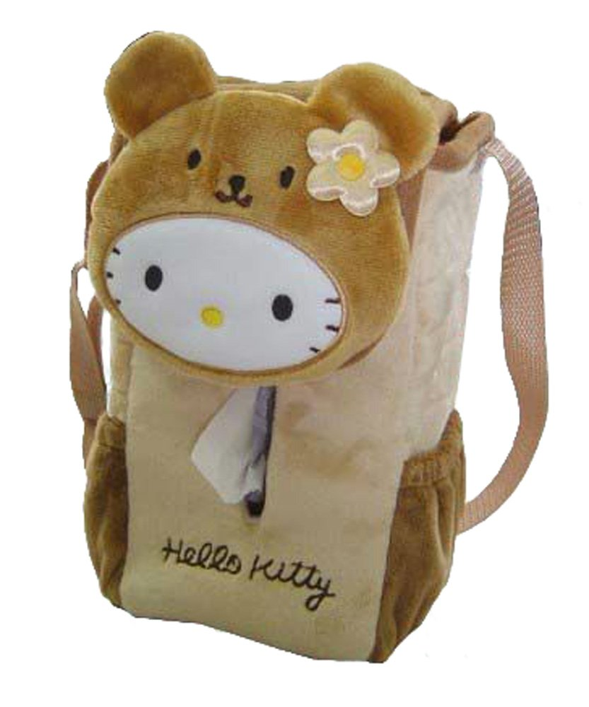 Hello Kitty in a Bear Suit Hanging Tissue Box Holder - Hello Kitty Car Accessories