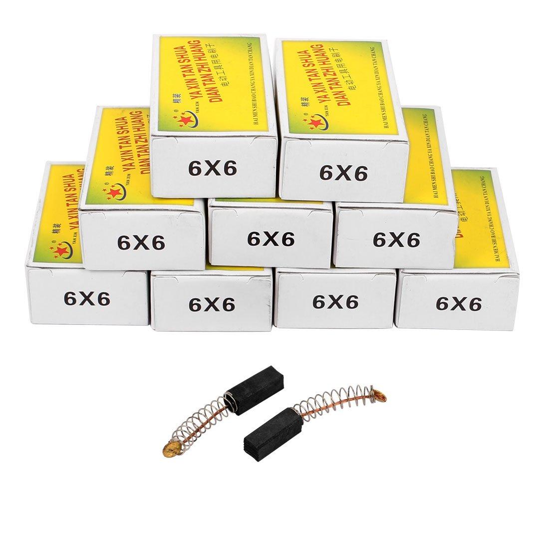 sourcingmap® 10 paires 17x6x6mm brosses à charbon Outil électrique pour moteur à percussion électrique sourcing map a16091000ux0057