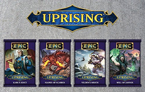 (White Wizard Games Epic Uprising Bundle - Karks Edict, Flames of Scarros, Veldens Wrath, and Will of Zannos)