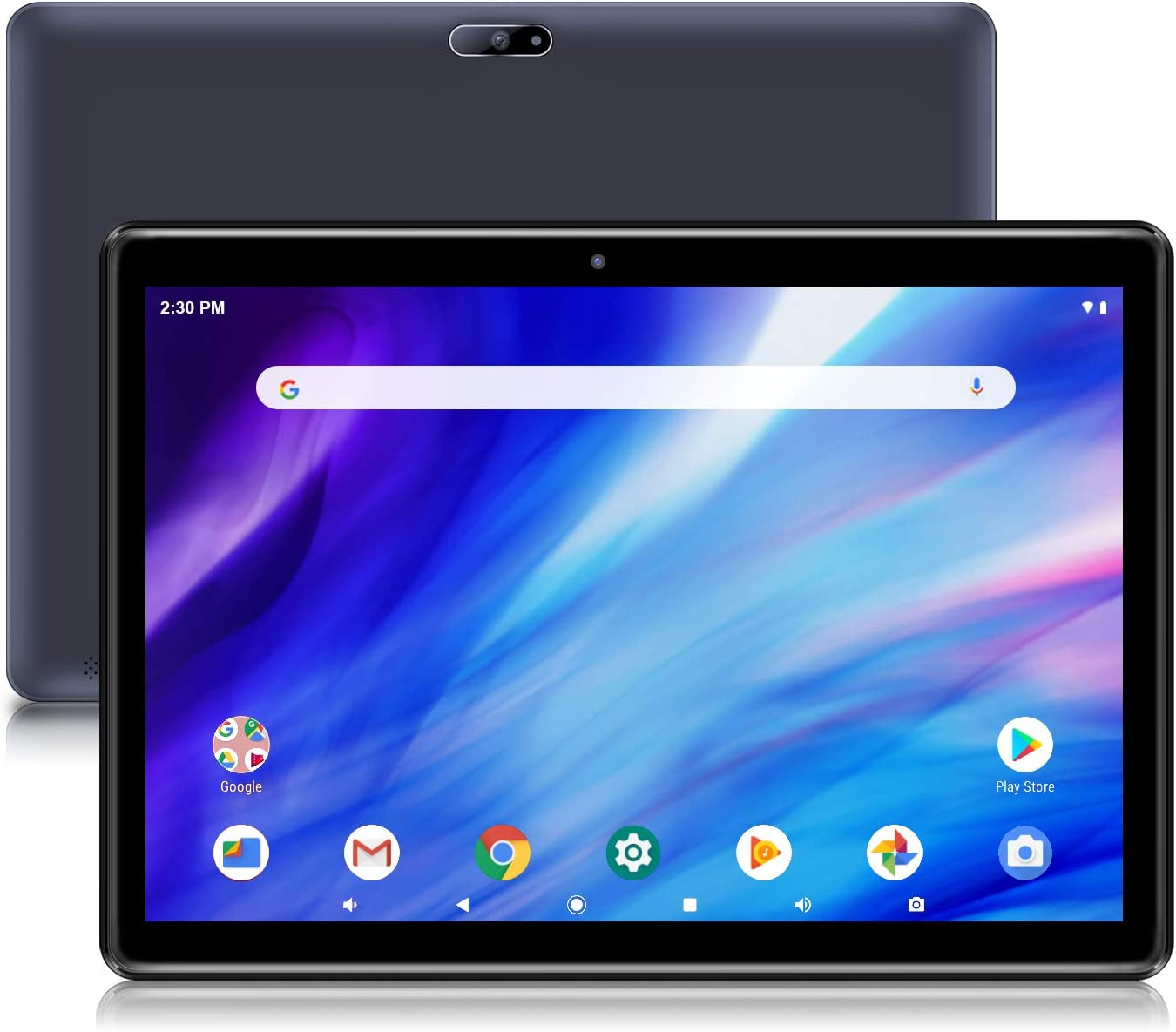 Android Tablet Pritom 10 inch Android 9.0 OS Tablet, 2GB RAM, 32GB ROM, Quad Core Processor, HD IPS Screen, 2.0 Front + 8.0 MP Rear Camera, Wi-Fi, Bluetooth - Tablet PC(Black)