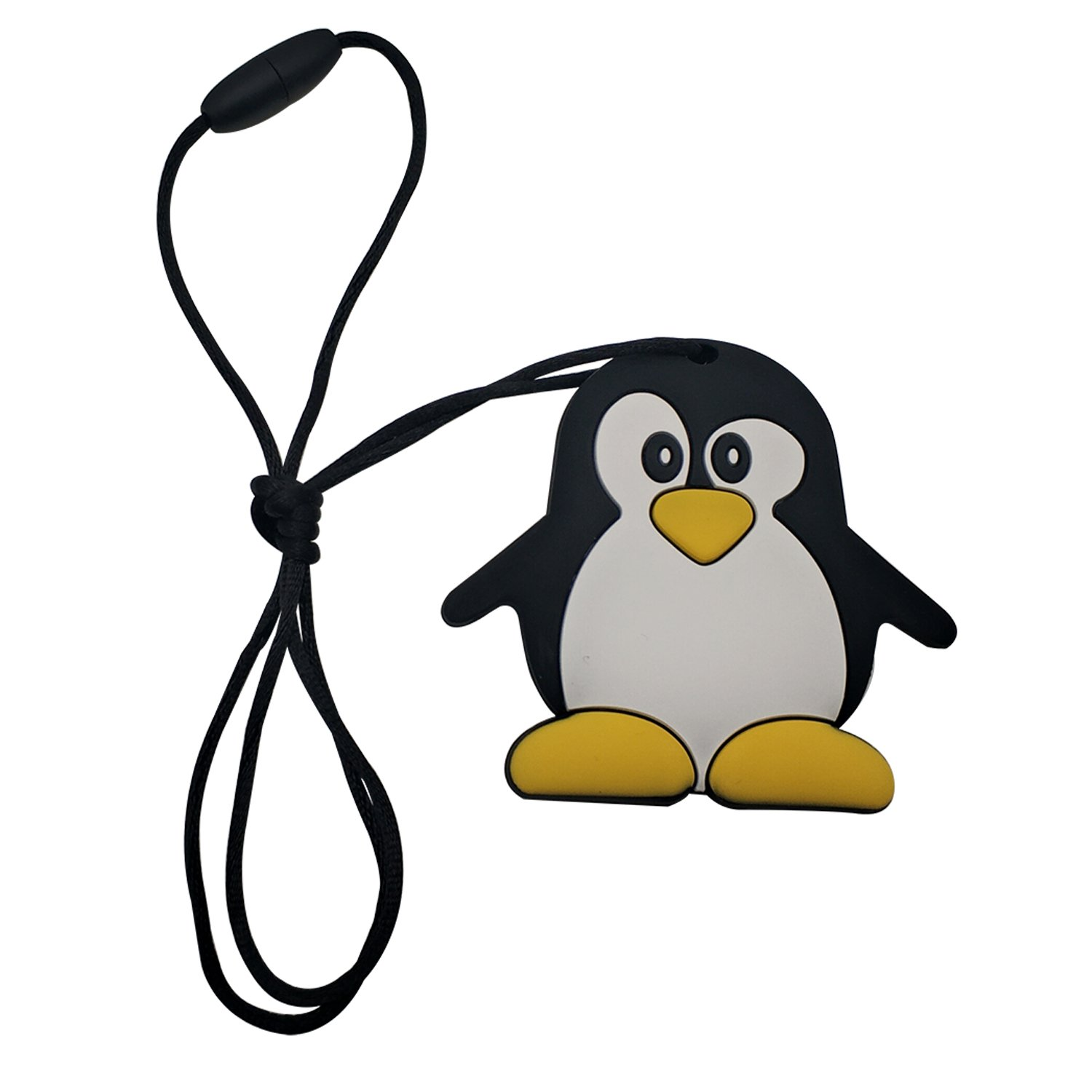 Inchant Chewable Penguin Silicone Teething Pendant Toy BPA /& Phthalates Free Gum Massager Teether Necklace FDA Compliant Soft Nursing Necklace For Baby And Toddler