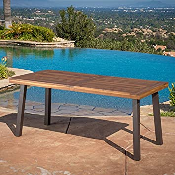 Christopher Knight Home Daria Natural Stained Acacia Wood Dining Table