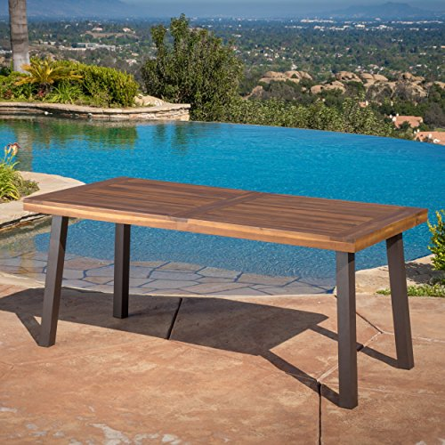 Daria Natural Stained Acacia Wood Dining Table Furniture