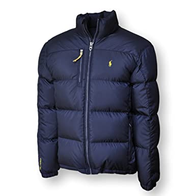 Polo Ralph Lauren Men\u0027s Down Jacket Puffer Winter Coat (S, Aviator Navy)