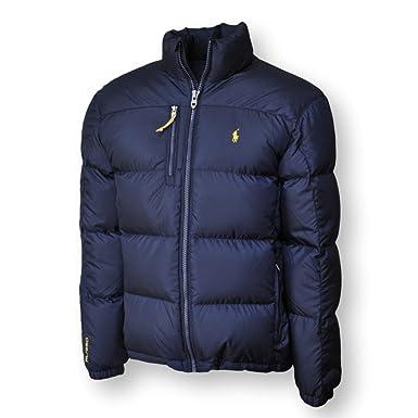 Polo Ralph Lauren Men's Down Jacket Puffer Winter Coat (S, Aviator Navy)