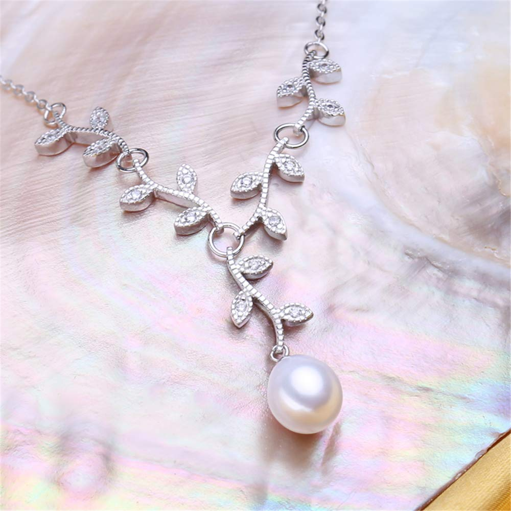 GLEENECKLAC Serpentine Pearl Necklace and Pendant Pearl Jewelry Punk Necklace Women