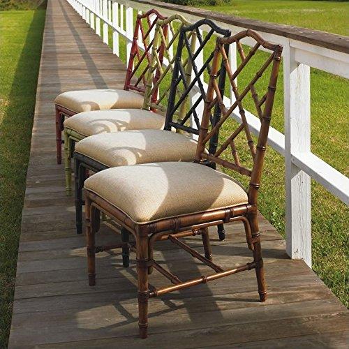 (Tommy Bahama Home Island Estate Ceylon Fabric Dining Chair-Noche -)