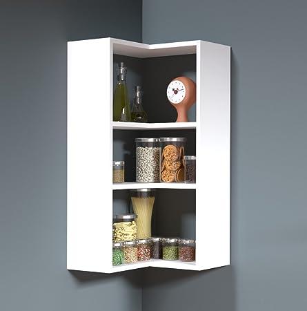 Homidea Side Etagere Murale D Angle Pour Livres De Cuisine Design