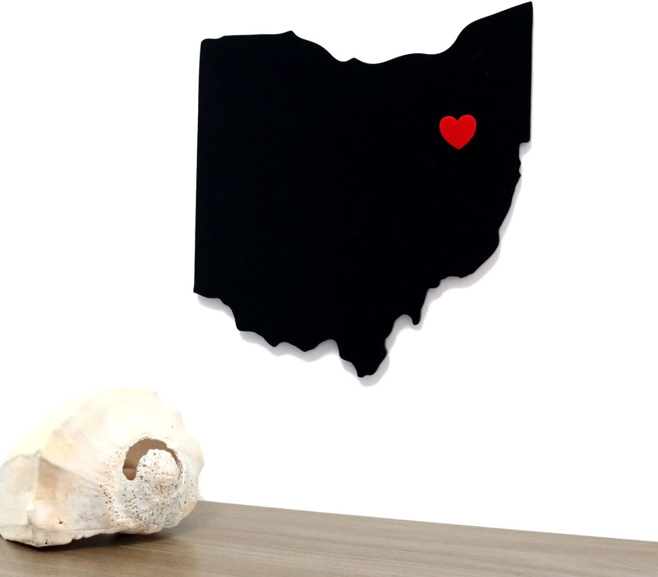 Mission Glass Works Ohio State Outline Wall Silhouette Home OH Wall Art Shape Modern Décor