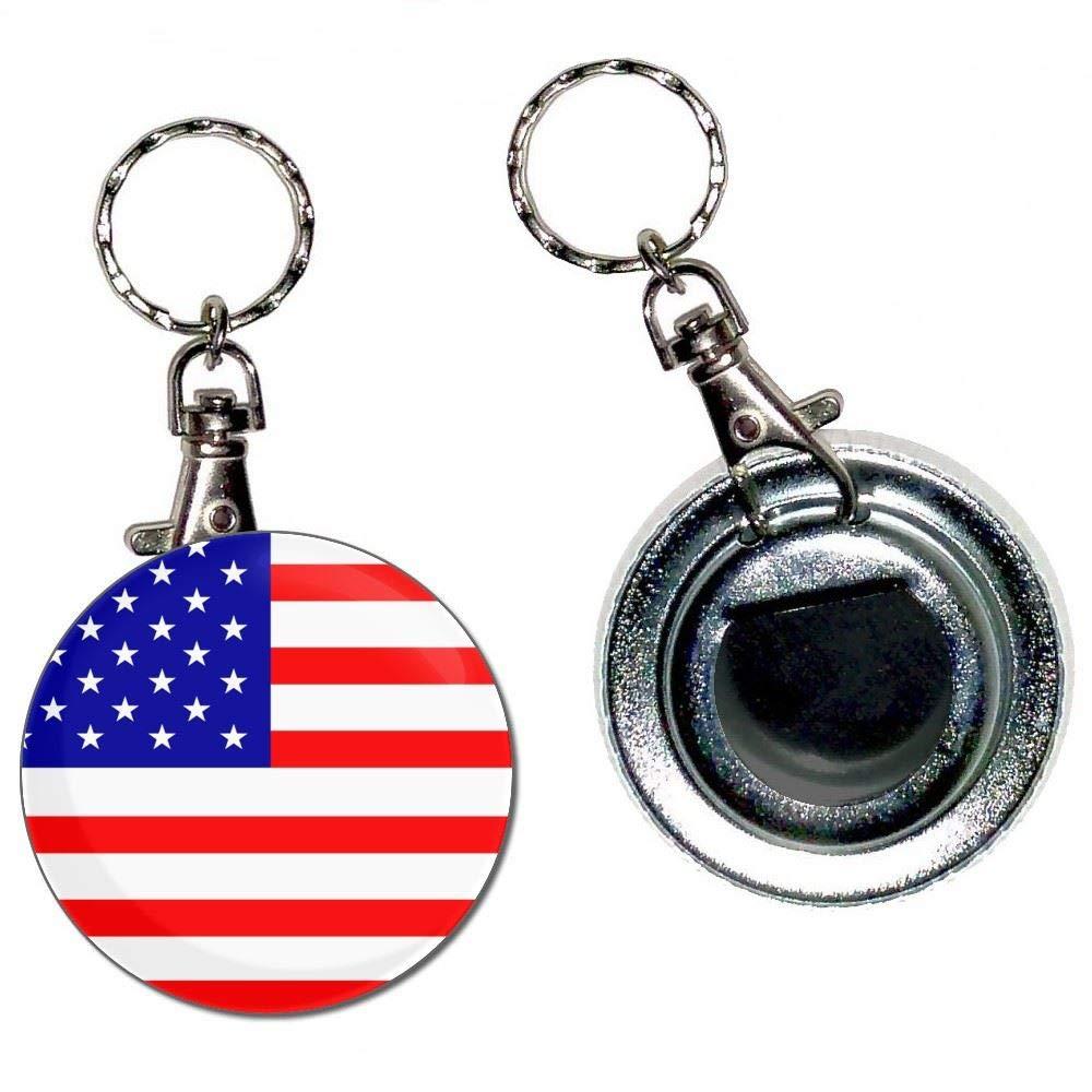 BadgeBeast.co.uk USA Flag - Llavero con abridor de botellas ...
