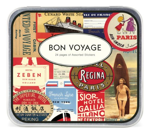 Cavallini Decorative Stickers Bon Voyage, Assorted