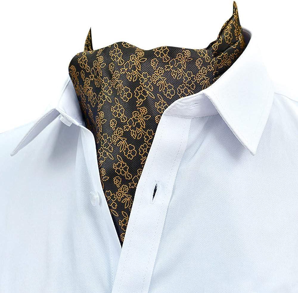 -Fashion Men Scarf Print Strip Suit Business Shirt Towel Female Scarf Bib Tie Zeside Tie Retro Classic Gentlemen-School Uniform Neckties-Wizard School Costume Tie-Fancy Dress Costume Accessories