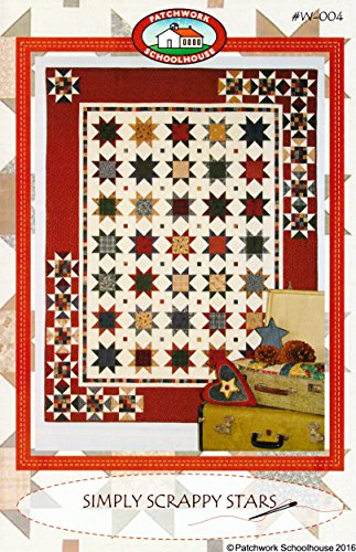 Quilt Pattern: Simply Scrappy Stars (Pillow, Table Runner, Wall Hanging, Crib/Baby, Lap, Twin Quilt)