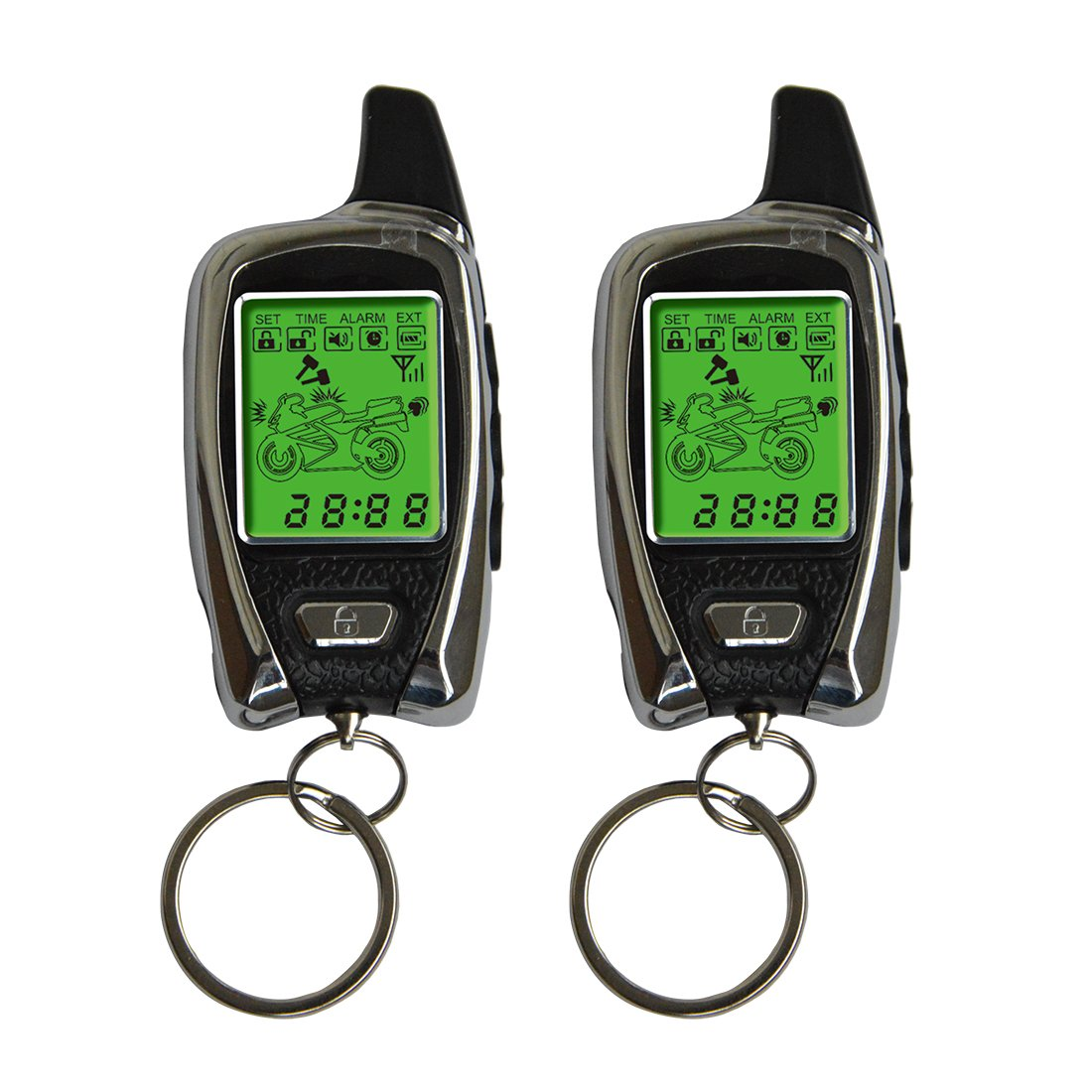 2 Way LCD Motorcycle Alarm System with Remote Engine Start 100/% Original OEM from SPY Factory