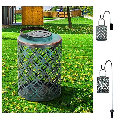(Solar Lantern Lights Outdoor Hanging LED, Tomshine IP44 Waterproof Backyard Light, Aged Bronze Finish)
