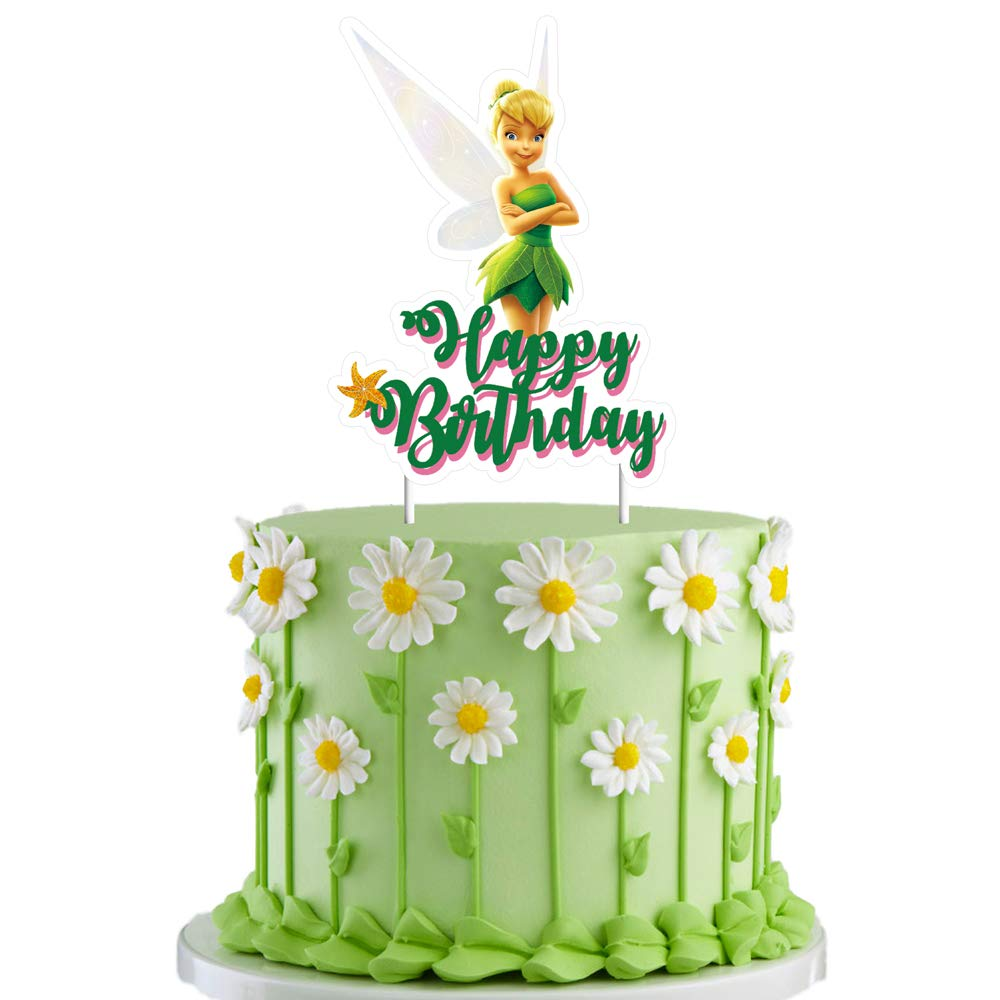 Surprising Tinkerbell Cake Topper Cupcake Decorations Birthday Party Topper Funny Birthday Cards Online Alyptdamsfinfo