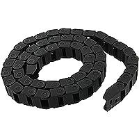 SODIAL(R) Cadena de arrastre de plastico negro Portador