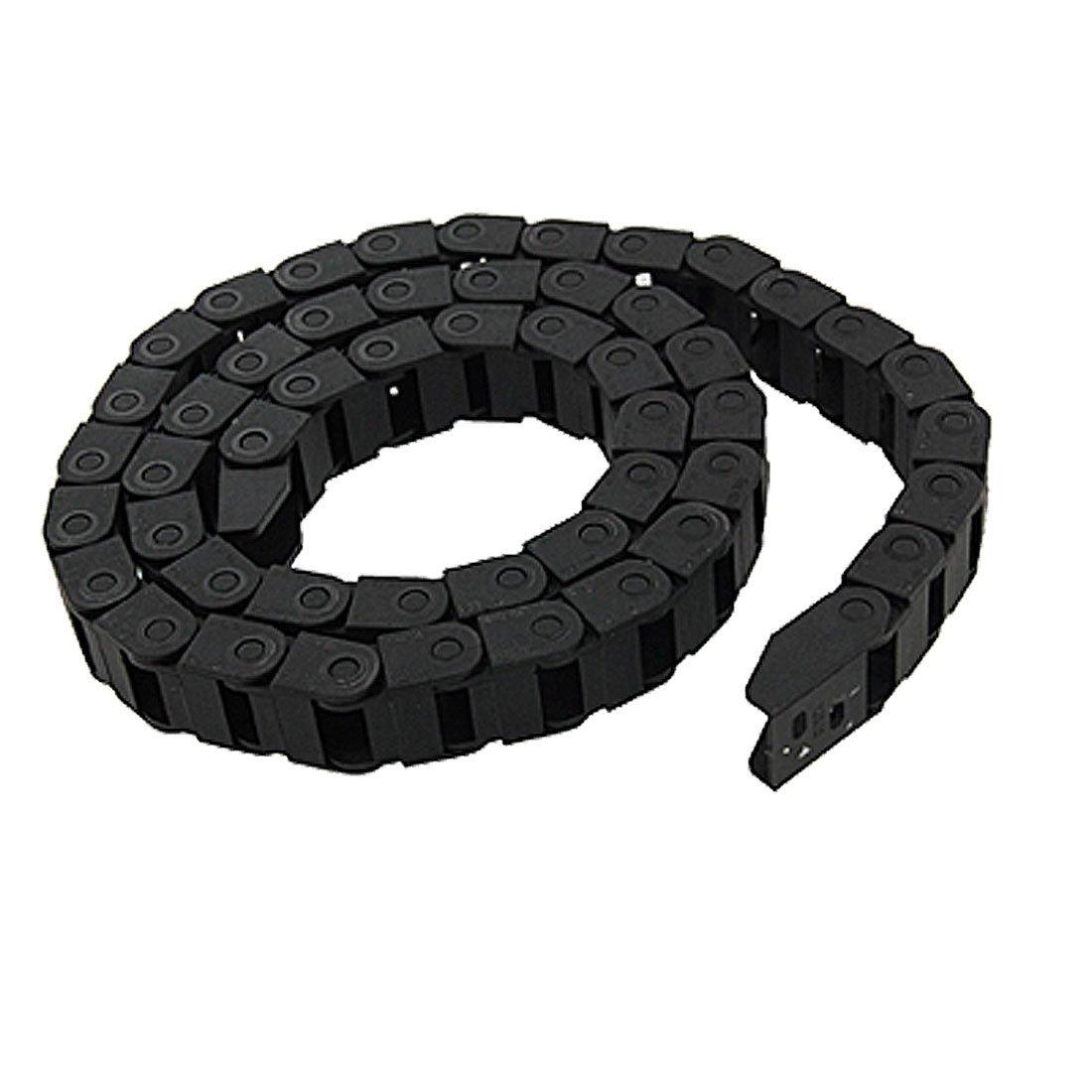 TOOGOO(R) Cadena de arrastre de plastico negro Portador de cable 10 x 15mm para fresadora CNC