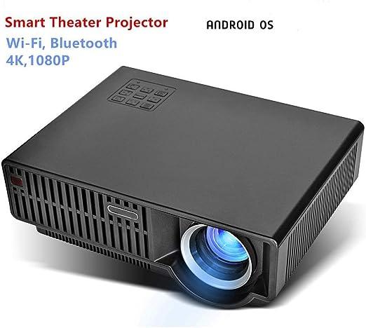 FSMJY Proyector, Mini Proyector LED Micro Casero Portátil 1080P HD, Versión De Android 6.01WIFI, Compatible con HDMI VGA AV USB Y Otros Dispositivos Externos, Cine En Casa Multimedia: Amazon.es: Hogar