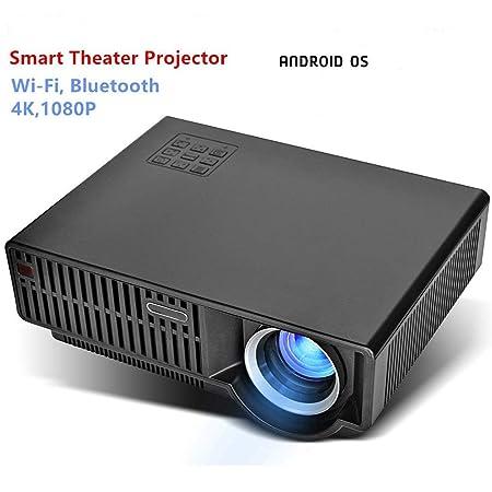 FSMJY Proyector, Mini Proyector LED Micro Casero Portátil 1080P HD ...