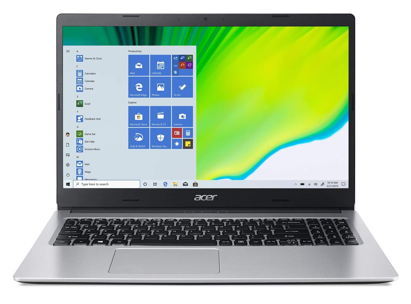 Acer Aspire 3 A315-23 15.6-inch Laptop (AMD Ryzen 5-3500U/8GB/512GB SSD/Window 10, Home, 64Bit/AMD Radeon Vega 8 Mobile Graphics), Silver