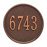 9'' Round Wall Address Plaque Color: Antique Copper