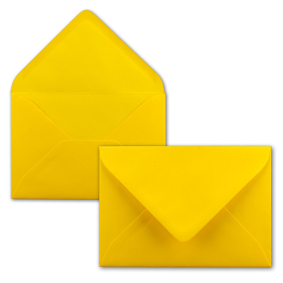 Buste B6–giallo qualità Premium–110G/m²–174x 120mm–molto resistente–nassklebung–qualità marca: Neuser colori vivaci B6 honiggelb