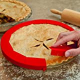 Transer Adjustable Silicone Pie Crust Shield Pie