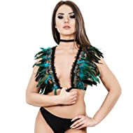 HJZLSSYS Body Harness Goth Feather Harness Cage Harness Feather Wings Bralette for Women