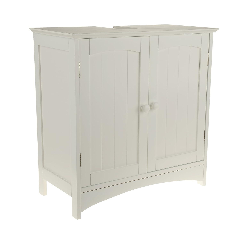 Waschtischunterschrank holz weiß  Waschtischunterschrank Holz MDF weiß 30 x 60 x 30 cm | Aussparung ...