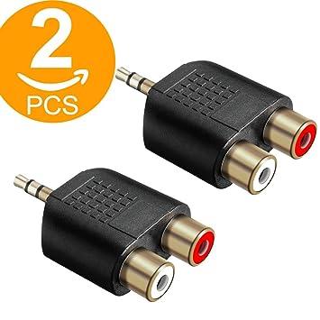 Divisor de Audio RCA Hembra a 2 RCA Macho 2 Unidades Act Audio
