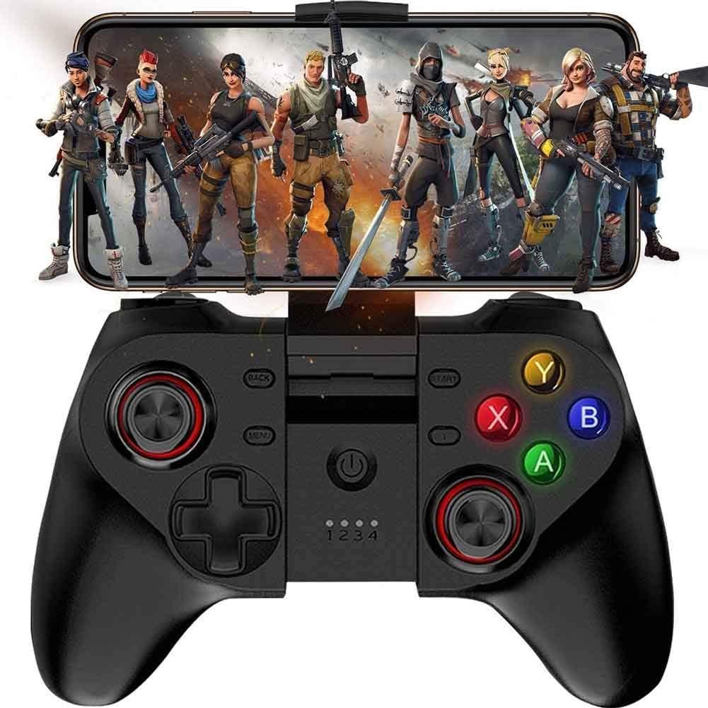 YT controlador de juego móvil Gamepad, mapeo de teclas inalámbrico Gamepad Joystick perfecto para iOS, Android, iPhone, iPad, Samsung Galaxy - No es compatible con iOS 13.4 controlador de juego, 01