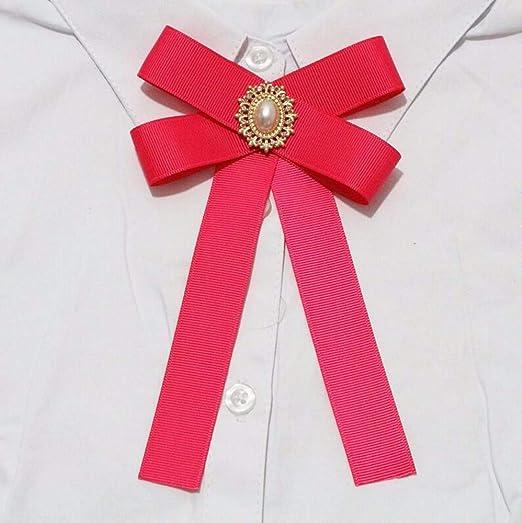 Tela De Moda Bow Broches para Mujer Cuello Alfileres De Corbata ...